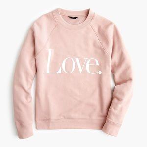 J Crew Love Blush Pink Crewneck Sweatshirt XL